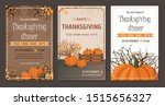 Set Thanksgiving Greeting Cards ...