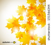 autumn background | Shutterstock .eps vector #151566344