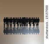 black people silhouette | Shutterstock . vector #15157000