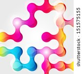 abstract geometric background... | Shutterstock . vector #151575155