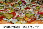 fragrant tasty pizza with...