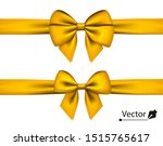 golden bow with horizontal... | Shutterstock .eps vector #1515765617