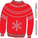 scandinavian style.red sweater... | Shutterstock .eps vector #1515770861