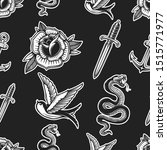 vintage seamless pattern with... | Shutterstock .eps vector #1515771977