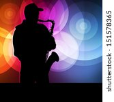 Saxophone Player Vector...