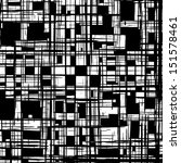 Grunge Grid Black And White...