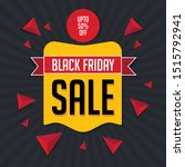 black friday sale banner with... | Shutterstock .eps vector #1515792941