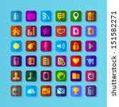 colorful flat design icons for... | Shutterstock .eps vector #151582271