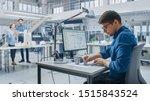 in architectural bureau  team... | Shutterstock . vector #1515843524