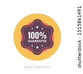 100  guaranteed label  ... | Shutterstock .eps vector #1515861491