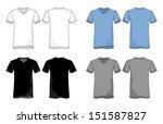 unisex vneck shirt vector...   Shutterstock .eps vector #151587827