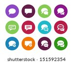 message bubble circle icons on... | Shutterstock .eps vector #151592354