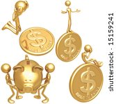 made in china dollar coins   Shutterstock .eps vector #15159241