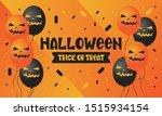 halloween. trick or treat.... | Shutterstock .eps vector #1515934154