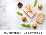 new year's flatlay composition... | Shutterstock . vector #1515945611