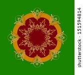 elegant background with round... | Shutterstock . vector #151594814