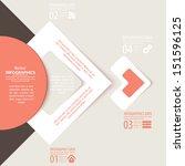 modern design infographic... | Shutterstock .eps vector #151596125