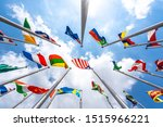 Flag Of The World With Blue Sky