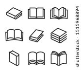 book line style icons set on...   Shutterstock . vector #1515968894