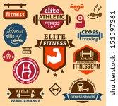 elegant fitness and sport... | Shutterstock .eps vector #151597361