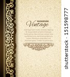 vintage background with golden... | Shutterstock .eps vector #151598777
