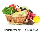 different vegetables isolated... | Shutterstock . vector #151600865