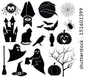 vector set for halloween.  | Shutterstock .eps vector #151601399