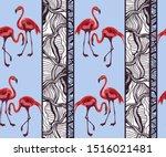 tropical wildlife  flamingo...   Shutterstock .eps vector #1516021481
