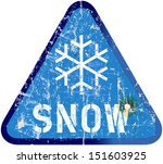 auto,blizzard,car,grungy,highway,ice,icy,road sign,season,sign,snow,snow storm,symbol,traffic,transport