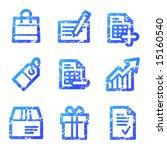 shopping web icons  blue grunge ... | Shutterstock .eps vector #15160540