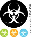 biohazard symbol vector sign... | Shutterstock .eps vector #151605884