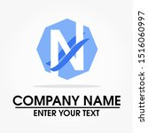 letter n logo design with a... | Shutterstock .eps vector #1516060997