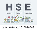 hse   health safety environment ... | Shutterstock .eps vector #1516096367