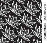 lotus flowercomplex monochrome... | Shutterstock .eps vector #1516099841