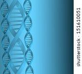 dna molecule structure... | Shutterstock . vector #151610051