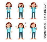 cute teen gesture many... | Shutterstock .eps vector #1516102964