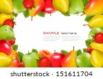 frame made of fresh  juicy... | Shutterstock .eps vector #151611704
