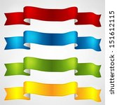 colorful ribbons set  | Shutterstock .eps vector #151612115