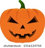 isolated halloween pumpkin... | Shutterstock .eps vector #1516124744