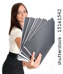 woman at work holding a file... | Shutterstock . vector #15161542