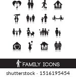 set with family icons... | Shutterstock .eps vector #1516195454