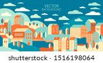 the urban landscape in a... | Shutterstock .eps vector #1516198064