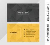 polygonal creative template... | Shutterstock .eps vector #1516221047