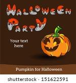 vector halloween party... | Shutterstock .eps vector #151622591