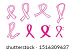 pink ribbon symbol for breast... | Shutterstock .eps vector #1516309637