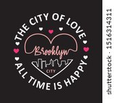 brooklyn typography for print t ...   Shutterstock .eps vector #1516314311
