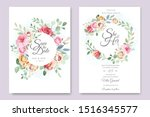 wedding and invitation card... | Shutterstock .eps vector #1516345577
