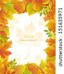 frame with autumn leaves and... | Shutterstock .eps vector #151635971