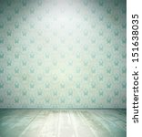 aged room with wooden floor and ... | Shutterstock . vector #151638035