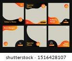 yellow orange banner feed post... | Shutterstock .eps vector #1516428107